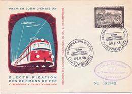Schöner FDC / BRIEF - LUXEMBURG - Poststempel   LUXEMBURG -  Gestempelt 1956 - FDC