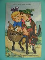 ST/232- 74- Samoëns - Couple Sur Âne  - Illus:Jean Brian.  - - Samoëns