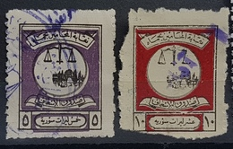 AS5 - Syria Lawyers Revene Stamps -  5L, 10L - Hamah Syndicate - Health Fund - Rare - Syria