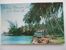 CPA CPSM CP TAHITI POLYNÉSIE FRANÇAISE 1958 VUE AÉRIENNE - Ed Photo LEON SHIAW PAPEETE - ED USA TBE - Polynésie Française