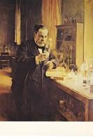 Musée Pasteur Pasteur Dans Son Laboratoire Peinture D'Albert Edefelt (2 Scans) - Pintura & Cuadros