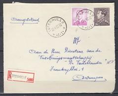 Aangetekend Briefstuk Van Lotenhulle A Naar Antwerpen - 1936-51 Poortman