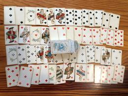 JEU De PATIENCE POUR DAMES - N° 163 B.DONDORF FRANKFURT A/M PATIENCE KARTEN 52 Blatt - Années 1900 Boîte Bleue-COMPLET - 54 Cards