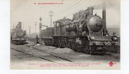 Les Locomotives (P.L.M.) Machine N°2625 Pour Trains Rapides Lourds Construite En 1907-1908. - Trains