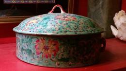 BOITE EN PORCELAINE DE CHINE- COULEURS JADE - Art Asiatique
