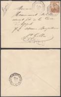 BELGIQUE COB 113 SUR LETTRE EXPRES DE BRUXELLES VERS ST GILLES  (DD) DC-2023 - 1912 Pellens