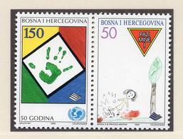 1996 - BOSNIA ERZEGOVINA - Mi.  Nr. 47/48 - NH - (UP121.24) - Bosnia Erzegovina