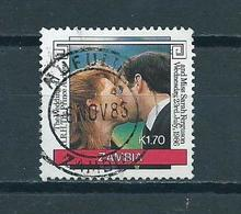 1986 Zambia Royal Wedding Used/gebruikt/oblitere - Zambia (1965-...)