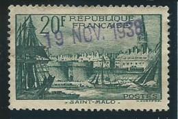 FRANCE: Obl., N° YT 394, B/TB - France