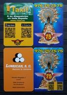 2019. 2 CALENDARIOS RADIO TAXI ZARAGOZA - VIRGEN DEL PILAR. - Tamaño Pequeño : 2001-...