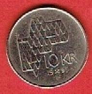 NORWAY # 10 KRONE FRA 1995 - Norvège