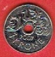 NORWAY # 1 KRONE FRA 2007 - Norvège