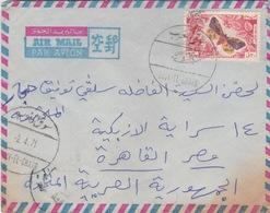 LIBAN LEBANON EGYPTE 1971 CENSUREE LETTRE AIRMAIL COVER SOUK EL GHARB POSTMARK - Liban