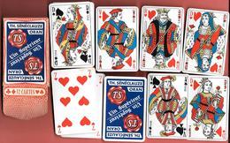"""JEU De 32 CARTES à JOUER PUBLICITAIRES """" TH.SENECLAUZE -ORAN - Vin Supérieur - JEU COMPLET Pour BELOTE,PIQUET,MANILLE - 54 Cards"""