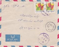 LIBAN LEBANON EGYPTE 1974CENSUREE LETTRE AIRMAIL COVER BIKFAYA POSTMARK - Liban
