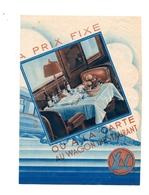 CIWL Wagon Restaurant Tarif Consommations Et Repas 1934 - Advertising