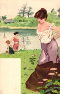 Damen, Badende Damen, Bademode, Erotik,  Um 1900/05 - Illustrateurs & Photographes