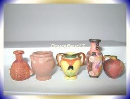 Céramiques... 5 Fèves.... Ref AFF : Pan 0016) - Charms