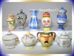 Céramiques... Lot De 9 Fèves.... Ref AFF : Pan 0016 - Charms