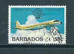 1983 Barbados Airplane,aviation Used/gebruikt/oblitere - Barbados (1966-...)
