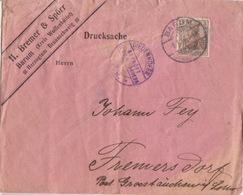 Lettre Pré-imprimée (Bremer & Spörr Barum, Drucksache) Obl Barum Sur 3pf=imp Le 8/3/16 Pour Fremers Dorf - Germany