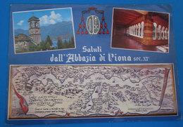 Abbazia Di Piona Vedute  Saluti Da ( Lecco ) Cartolina - Churches & Convents