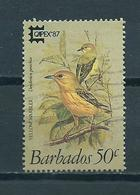 1987 Barbados Birds,oiseaux,vogels,Capex Used/gebruikt/oblitere - Barbados (1966-...)