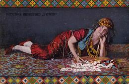 FORTUNE TELLER With PLAYING CARDS / DISEUSE DE BONNE AVENTURE / CARTOMANCIE - KATERINA PILIPENKO / KRAKOW : 1914 (aa413) - Astrologia