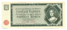Funfzig Kronen, Padesat Korun, 50 Korun, PROTEKTORAT, 1940, SPECIMEN, Čechya Morava, A15 Bohemia Moravia - Tchécoslovaquie
