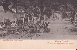 CONGO FRANCAIS N°40  Préparation Du CACAO   ( Plan Animé ) - Congo Français - Autres