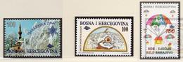 1996 - BOSNIA ERZEGOVINA - Mi.  Nr. 65+74+75 - NH - (UP121.24) - Bosnia Erzegovina