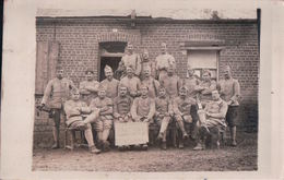 CARTE PHOTO De CROIX-FONSOMME Militaires Du 173e RI 2eme Section Le 24 Octobre 1918 - France