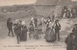 ENVIRONS D AURAY TROIS MARIAGES REUNIS MARIES GARCONS ET FILLES D HONNEUR DANSANT LA BAL - Auray