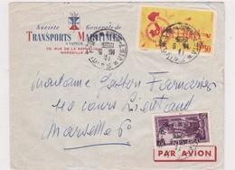 Vietnam Lettre S.G.T.M  Saïgon>Marseille France 1955 - Viêt-Nam