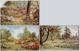 "3CPA - Illustrateur Heyermans - KEW GARDENS - Raphaël Tuck & Sons' ""Oilette"" N° 9612 - Autres Illustrateurs"