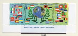 1997 - BOSNIA ERZEGOVINA - Mi.  Nr. 99/101 - NH - (UP121.25) - Bosnia Erzegovina