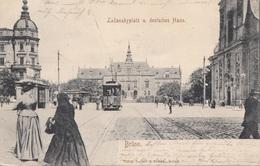 BRÜNN Lazanskyplatz U.deutsches Haus, Orig.Karte Gel.1905 - Tschechische Republik