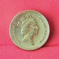 GREAT BRITAIN 1 POUND 1990 -    KM# 959 - (Nº27552) - 1971-…: Dezimalwährungen