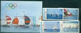 Cote De Ivoire Ivory Coast, 1987 Pre-Olympic Year, 4 Stamps + Block - Zomer 1988: Seoel