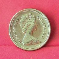 GREAT BRITAIN 1 POUND 1983 -    KM# 933 - (Nº27555) - 1971-…: Dezimalwährungen