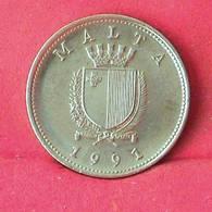 MALTA 10 CENTS 1991 -    KM# 96 - (Nº27558) - Malte