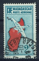 Madagascar (French Colony), Map Of The Island, 2f., 1935, VFU  Airmail - Airmail