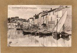 CPA - MARTIGUES (13) - Aspect Du Petit Port Le Long Du Quai Brescon En 1929 - Le Cannet