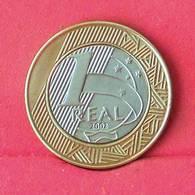 BRAZIL 1 REAL 2002 -    KM# 622,a - (Nº27562) - Brésil
