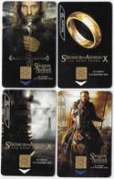 Lot Télécartes Le Seigneur Des Anneaux Les Deux Tours Le Retour Du Roi 2002 2003 - Cinéma