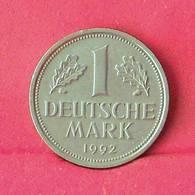 GERMANY FEDERAL REPUBLIC 1 MARK 1992 A -    KM# 110 - (Nº27564) - [ 7] 1949-… : FRG - Fed. Rep. Germany