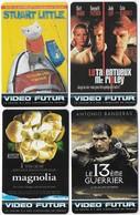 Lot 4 Cartes Collector Video Futur Tom Cruise Stuart Little Antonio Banderas - Cinéma