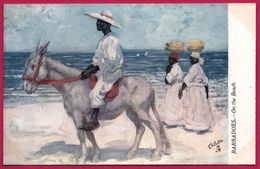 Barbadoes - On The Beach - Barbades - A Dos D'Ane Sur La Plage - Femme - Animée - RAPHAEL TUCK - OILETTE - Barbados
