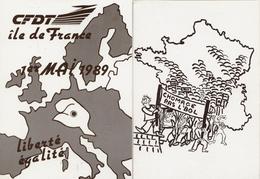 4 CPM - Syndicats -CFDT-Maintien Du Pouvoir D'achat-CGT - Chômage Ras L'bol - Syndicats