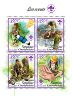 CENTRAL AFRICA 2019 - Scouts, Mushrooms. Official Issue - Champignons